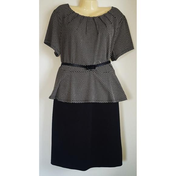 Plus Size Peplum Dress NWT